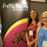 Bee Pettner, 14, Maria Passantino, 17, and Madeleine Boyles, 13, represented Pretty Brainy at the 2016 conference of the International Society for Technology in Education (#ISTE2016).