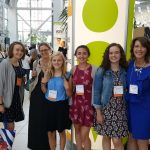 Pretty Brainy's chaperones for the conference, which was attended by a reported 16,000 educators worldwide, were (from left) David Pettner, Audre Pettner and Claire Boyles, who gathered for a photo opp with Madeleine, Maria, Bee, and Heidi Olinger.