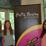 "Mentoring is a key component of Pretty Brainy's mission to empower girls to gain STEAM. Briana Chamberlain, Schuyler Rideout and Daniela Gonzalez (l to r), Engineering majors at Colorado State University, began mentoring girls with Pretty Brainy in February 2015. One hundred percent of Pretty Brainy students agree, ""I like working with the mentors."" photo: Shanthini Ode"